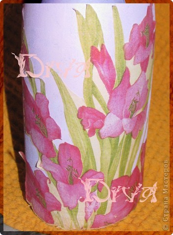 Декор предметов, Мастер-класс Декупаж: бутылка в подарок Краска, Нитки, Салфетки, Ткань Свадьба. Фото 4