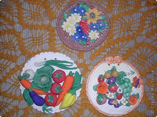 Поделка фрукты на тарелке 37