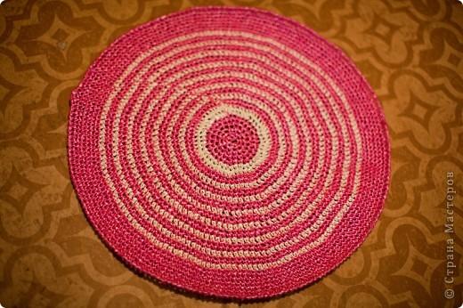 Поделка, изделие Вязание крючком: Коврик для бани Материал бросовый. Фото 2