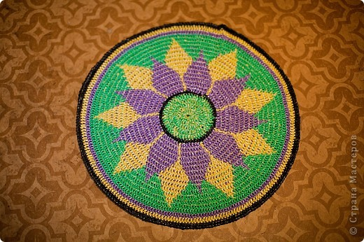 Поделка, изделие Вязание крючком: Коврик для бани Материал бросовый. Фото 3