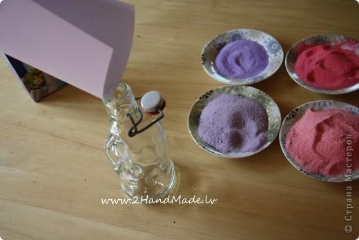 Мастер-класс: Бутылочка с солью - МК Бутылки стеклянные, Соль. Фото 9