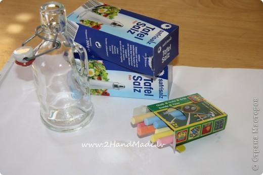 Мастер-класс: Бутылочка с солью - МК Бутылки стеклянные, Соль. Фото 2
