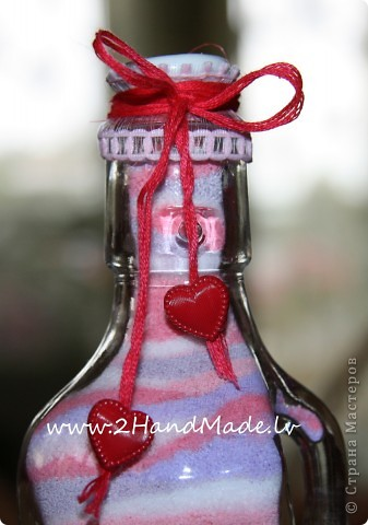 Мастер-класс: Бутылочка с солью - МК Бутылки стеклянные, Соль. Фото 12