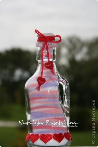 Мастер-класс: Бутылочка с солью - МК Бутылки стеклянные, Соль. Фото 1