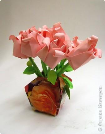 изделие Оригами: Букет роз
