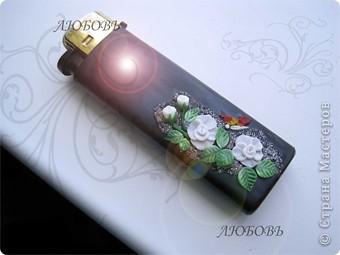 Декор предметов,  Лепка, : Старая зажигалка стала красивой