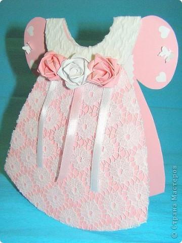 Открытка для девочки платье 45