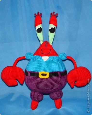 Игрушка Вязание крючком: Спанч Боб и его друзья.  Пряжа Отдых.