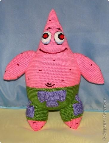 Игрушка Вязание крючком: Спанч Боб и его друзья.  Пряжа Отдых.  Фото 7.