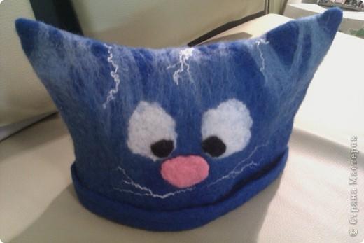 Валяние (фильцевание): Котик (шапка валяная) Шерсть.  Фото 3.