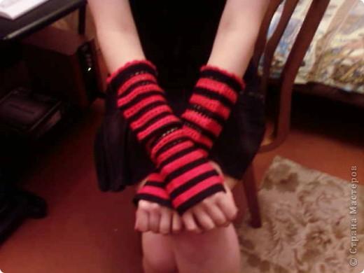 перчатки без пальцев-Митенки