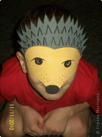 Как сделать из бумаги маску ёжика своими руками