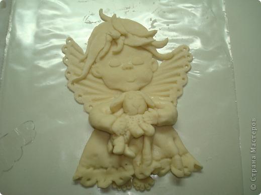 Мастер-класс, Лепка, : Ангелочек с овечкой Тесто соленое Дебют, . Фото 1