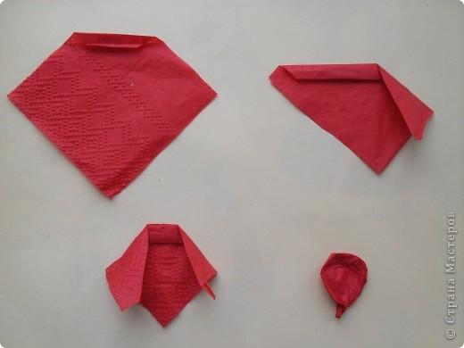 Мастер-класс,  Бумагопластика, Квиллинг, : Маки из бумажных салфеток. МК Бумага, Полосы бумажные, Салфетки . Фото 3