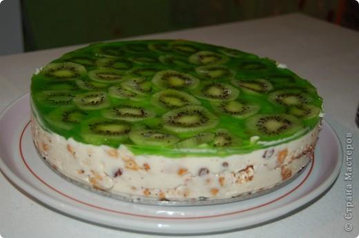 Торт с желе сметаной и фруктами рецепт