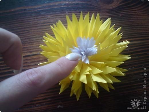 Как сделать цветок из бумаги астру