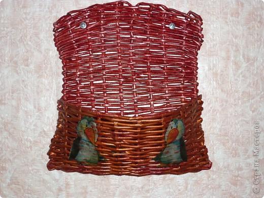 Плетение, : Ключница Бумага газетная . Фото 1