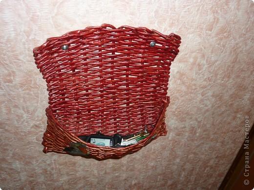 Плетение, : Ключница Бумага газетная . Фото 2