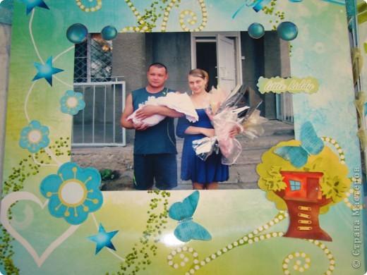 "Мастер-класс, Скрапбукинг: Фотоальбом ""Улыбка лета"" Бумага. Фото 11"