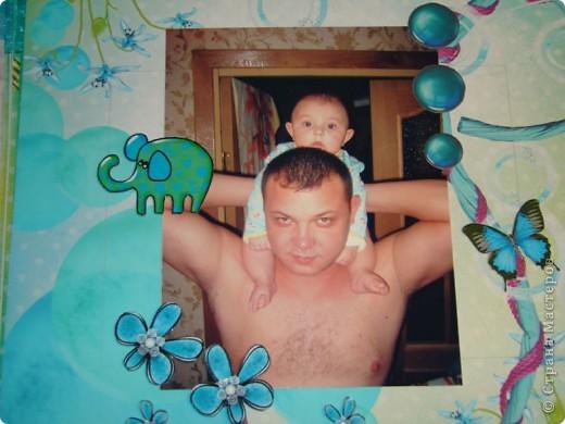 "Мастер-класс, Скрапбукинг: Фотоальбом ""Улыбка лета"" Бумага. Фото 13"