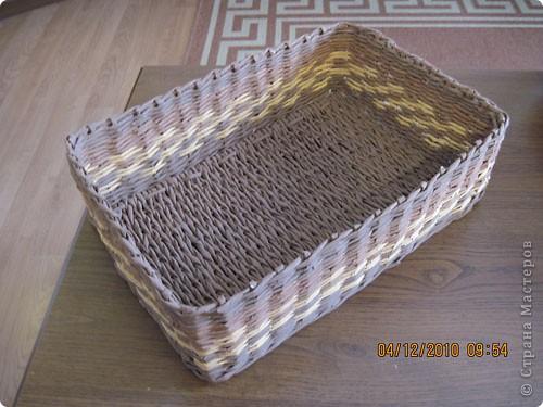 Мастер-класс,  Плетение, : Плетение квадратной (прямоугольной )корзинки Бумага газетная . Фото 28