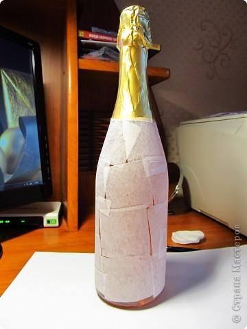 Декор предметов, Мастер-класс,  Декупаж, Роспись, : Бутылка в подарок на Новый Год Бутылки, Стекло Новый год, . Фото 3