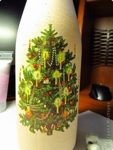 Декор предметов, Мастер-класс,  Декупаж, Роспись, : Бутылка в подарок на Новый Год Бутылки, Стекло Новый год, . Фото 7