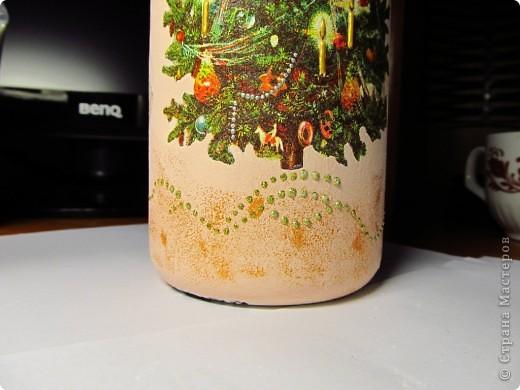 Декор предметов, Мастер-класс,  Декупаж, Роспись, : Бутылка в подарок на Новый Год Бутылки, Стекло Новый год, . Фото 8