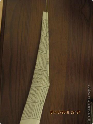 Мастер-класс,  Плетение, : Как я кручу и  крашу трубочки. Бумага газетная, Краска . Фото 6