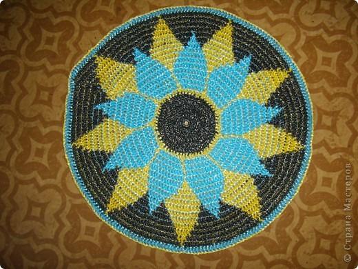 Поделка, изделие Вязание крючком: Опять коврики Материал бросовый. Фото 1