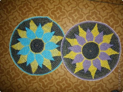 Поделка, изделие Вязание крючком: Опять коврики Материал бросовый. Фото 2