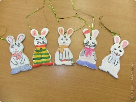 Елочные игрушки своими руками заяц