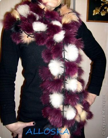 вязание жилетов из кусочков кожи.