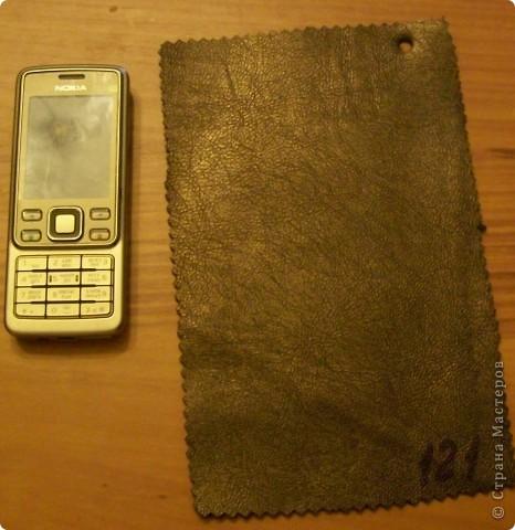 Мастер-класс Шитьё: чехол для телефона Кожа.