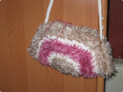 Гардероб Вязание крючком: сумки Ленты.  Фото 2.