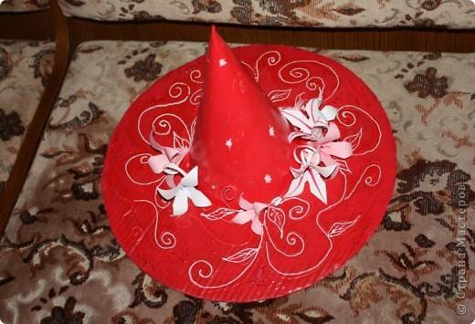 Гардероб, Декор предметов Оригами: Шляпа волшебницы Картон Новый год.