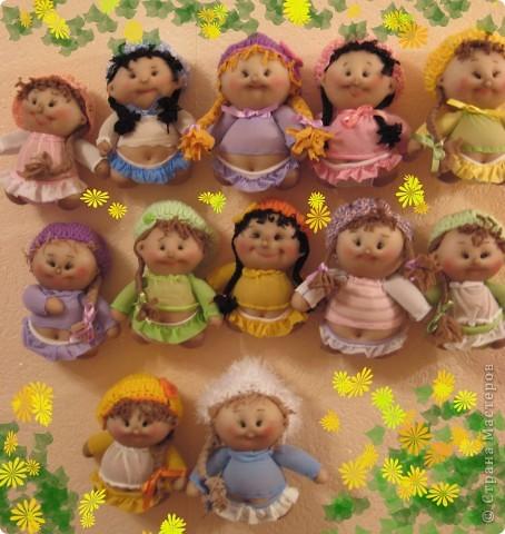 Куклы, Мастер-класс Шитьё: Радужные пупсы Капрон, Тесьма. Фото 1