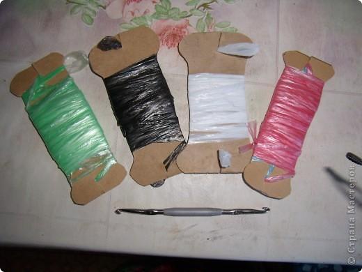 Поделка, изделие Вязание крючком: Обещанная схема коврика Материал бросовый. Фото 3
