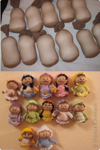 Куклы, Мастер-класс Шитьё: Радужные пупсы Капрон, Тесьма. Фото 60