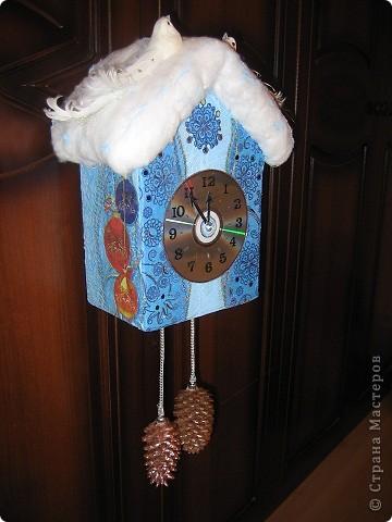 Поделка, изделие Декупаж: Часы новогодние (пять минут до Нового Года) Коробки Новый год. Фото 1
