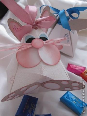 Упаковка,  Оригами, : Коробочка-кролик! Бумага Новый год, . Фото 1