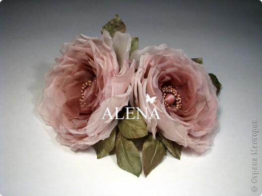 Цветок из ткани для штор своими руками