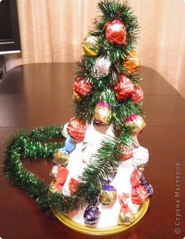 Мастер-класс, Свит-дизайн Ассамбляж: Ёлка 2011 (МК) Картон, Продукты пищевые, Скотч Новый год. Фото 5