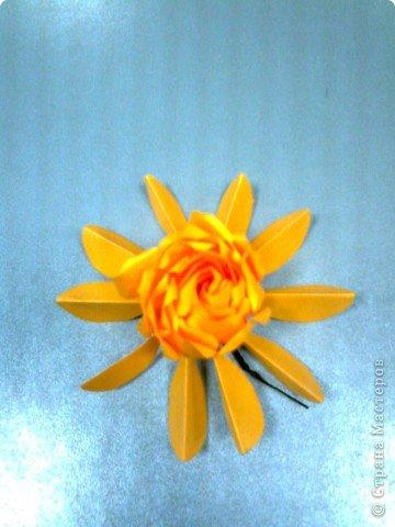 Мастер-класс,  Оригами, : Роза  Бумага 8 марта, . Фото 10