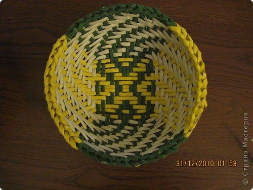 Мастер-класс,  Плетение, : Цветная тарелочка Бумага газетная . Фото 1