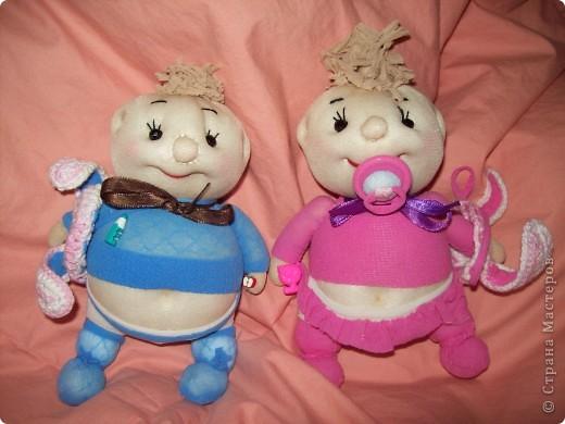 Куклы: Пупсы из носков Носки Новый год.  Фото 2.