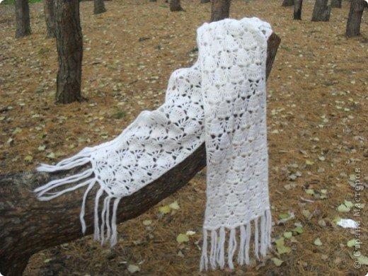 Гардероб Вязание крючком: Шарф из мохера Нитки, Пряжа.  Фото 1.