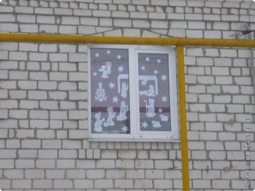 Интерьер Вырезание силуэтное: Наши окошки Бумага Новый год. Фото 7