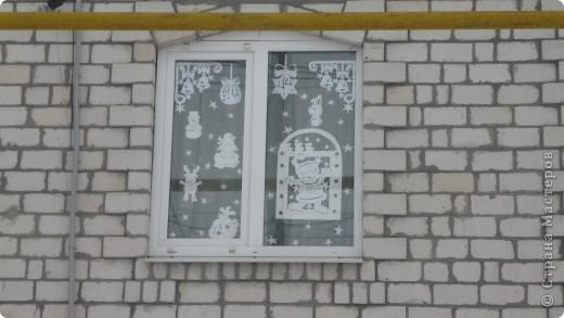 Интерьер Вырезание силуэтное: Наши окошки Бумага Новый год. Фото 9