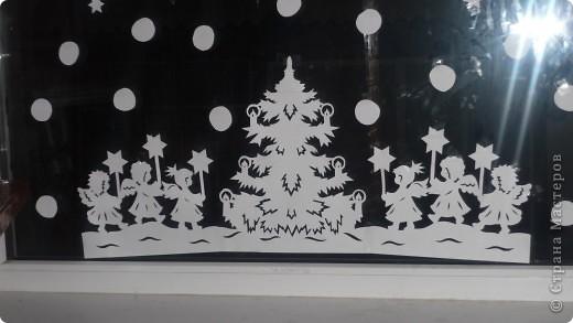 Интерьер Вырезание силуэтное: Наши окошки Бумага Новый год. Фото 12